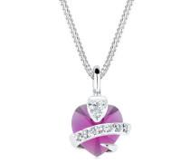 Halskette Herz Swarovski® Kristalle 5 Silber Adorable