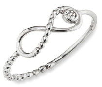 Ring 5/- Sterling Silber rhodiniert Zirkonia