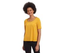 T-Shirt unifarben Ketten-Applikation