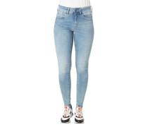 "Jeans ""Lynn"", Super Skinny, Baumwoll-Mix, Waschung, Patch"