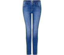 Jeans, gerade Form, figurbetont, Waschung,