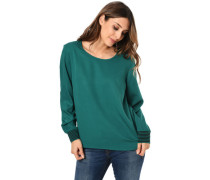 Bluse, langarmchlüsselloch-Ausschnitt, elastische Rippbündchen, für Damen7