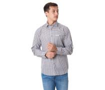 Freizeithemd Karo-Muster Brusttasche