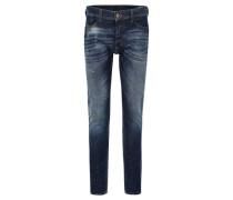 "Jeans ""Tepphar"" Slim Fit Used-Optik Knopfleiste Stretch-Anteil"