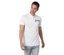 Poloshirt mit Brusttasche und Logoprint, XL