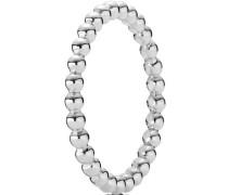 """Ring Metallperlen """"190615"""", 925er , 56"""
