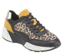 Sneaker Leder Metallic-Detail