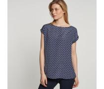 Shirtbluse Ohne Arm Punkte -weiß