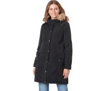 Mantel, funktional und modern, schlicht, Kapuze, für Damen