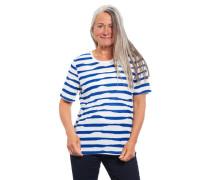 T-Shirt Rundhalsausschnitt Halbarm Ziernähte gestreift