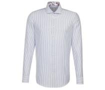 Business Hemd Custom Fit Langarm Haifischkragen Streifen Mittel