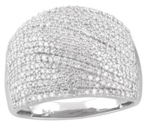 Ring  375 mit Diamanten, zus. ca. 1,00 ct