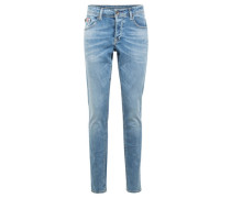 "Jeans ""Savio"", Slim FIt, Knopfleiste, Used-Optik,"