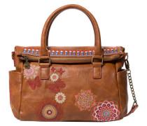 Handtasche Chandy Loverty Stickereien auf hochwertigem Kunstleder