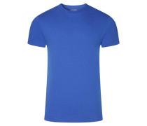 T-Shirt, uni, Rundhalsausschnitt, Baumwolle, für Herren, royal, XL