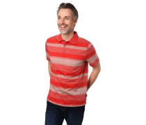 Poloshirt Kurzarm Streifen Brusttasche