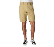 Shorts Straight Fit Galonstreifen Baumwoll-Stretch