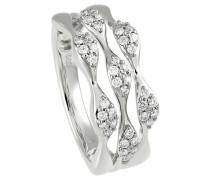 Ring 585  mit 42 Diamanten, zus. ca. 0,4 ct.
