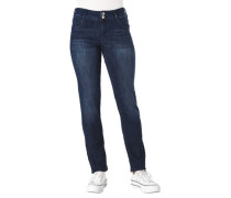 Jeans dunkle Waschung Slim-Fit zwei Knöpfe