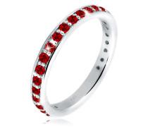 Ring Glamourös Swarovski® Kristalle 5 Sterling Silber  mm