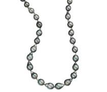 Collier Tahiti-Zuchtperlen Sterling Silber 925 9,0-13,3mm