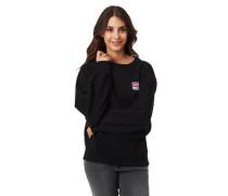 Sweatshirt Ripp-Bündchen Label-Patch