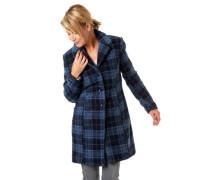 Mantel, Glencheck-Muster, Reverskragen, Woll-Anteil