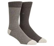 Socken 2er-Pack Birdseye-Muster
