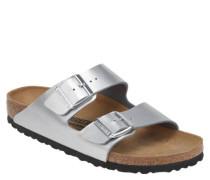 "Pantoletten ""Arizona"", Leder, Fußbett, Metallic-Look"