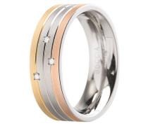 ring Titan mit Diamanten e zus. 0.015 Ct.