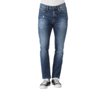 Jeanslim Fit, Destroyed Look, Waschung