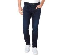 Jeans, gerader Schnitt, Zierknöpfe, für Herren, , W33/L30