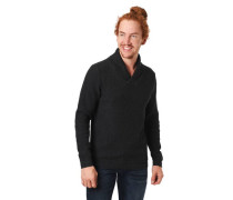 Pullover Strick-Muster Wickelkragen