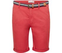 Chino-Shorts mit Gürtel, hell