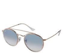 """Sonnenbrille """"ROUND DOUBLE BRIDGE 3647N"""", , kupfer"""