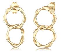 Ohrringe Ohrhänger Gedreht Zwei Kreise Geo 5er Silber