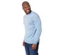 Pullover Woll-Anteil Marken-Patch Rippbündchen