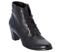 Schnür Boots Ziernaht Glanzoptik Echtleder