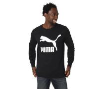 Sweatshirt Marken-Print Rundhalsausschnitt