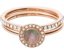 """Ring Set Classics """"JF02954791"""" Edelstahl rosévergoldet"""
