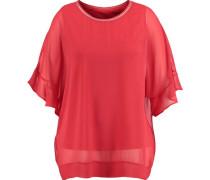 T-Shirt, Kurzarm, Glitzer-Bündchen, Rundhals,