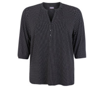 Blusenshirt 3/4-Arm gepunktet Split-Neck Große Größen