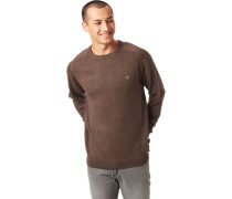 Baumwoll-Pullover, taupe, L