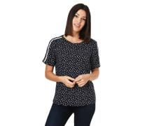 T-Shirt, Allover-Print, Kontraststreifen, für Damen, 34