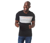 T-Shirt Front-Print Baumwolle Rundhalsausschnitt