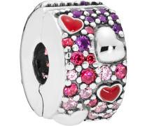 """Charm Asymmetric Hearts of Love """"797838CZRMX"""", 925er Silber"""