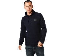 Sweatshirt, Stehkragen, Patches, für Herren, DARK MOON, XXL