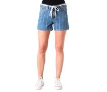 Jeans-Shorts Streifen geflochtener Bindegürtel