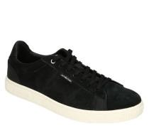 Sneaker Leder Ziernähte Kontrast-Sohle