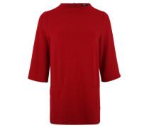 Jerseykleid, 3/4-Arm, Rippstruktur, Kunstleder-Streifen,